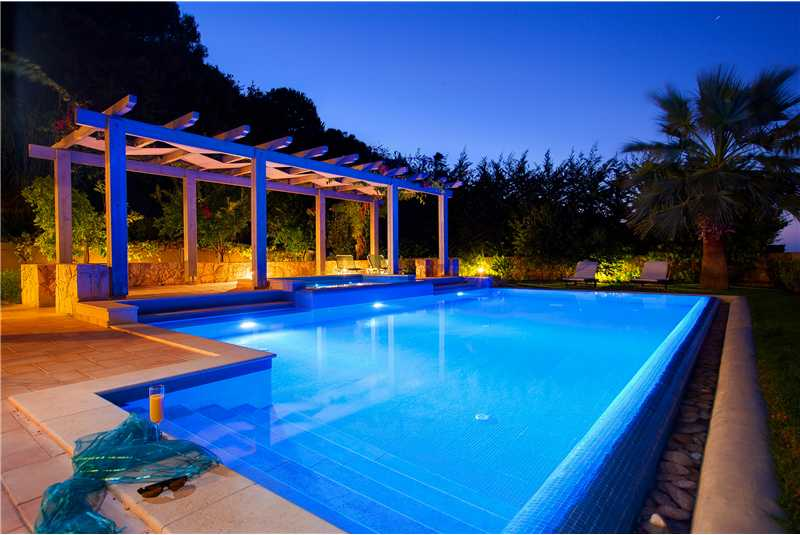 Villa Alexandra infinity pool at night