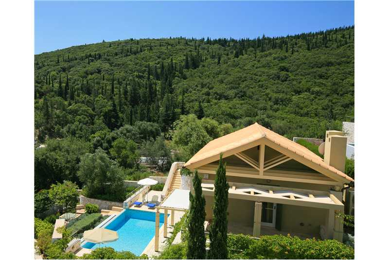 Villa Dentrolivano in a peaceful location overlookking Fiscardo harbour