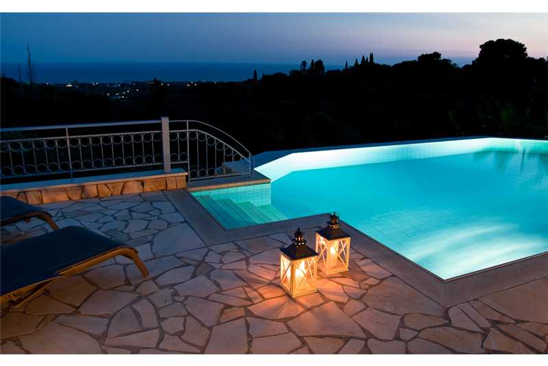Villa Ersi pool at night