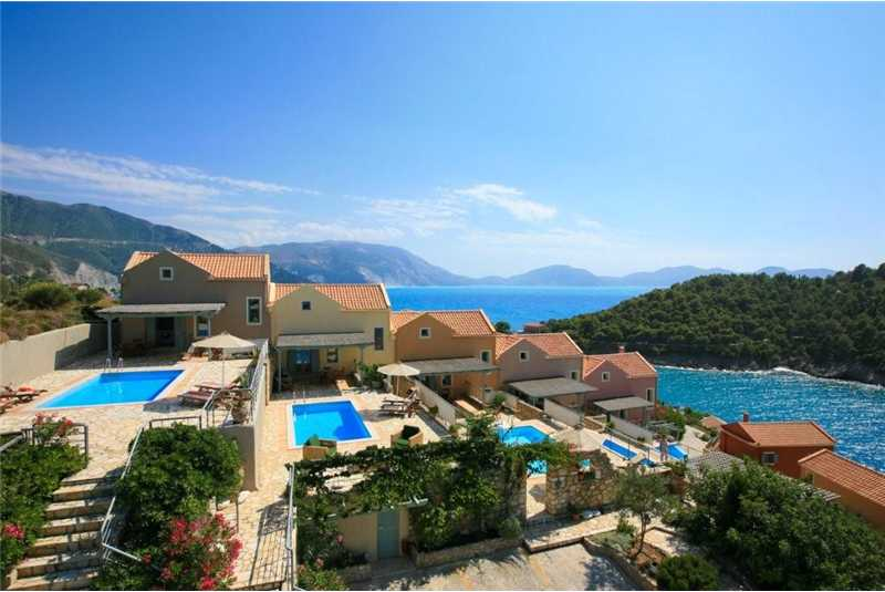 Villa Glaroni with views of Assos Castle