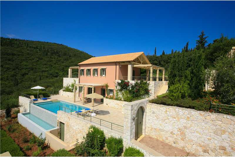 Villa Levanda in a peacefull location with stunning views over Fiscardo harbour