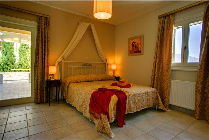 Villa Levanda master double bedroom with private balcony and en suite shower room