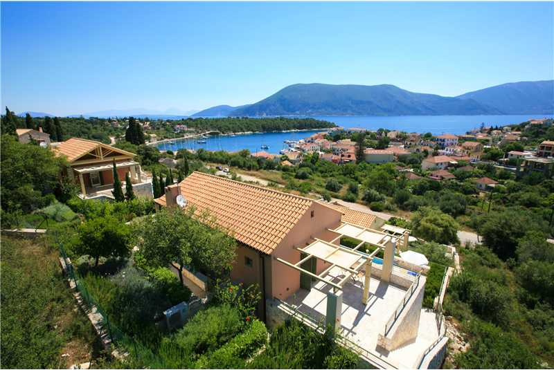 Villa Levanda with views of the island of Ithaca