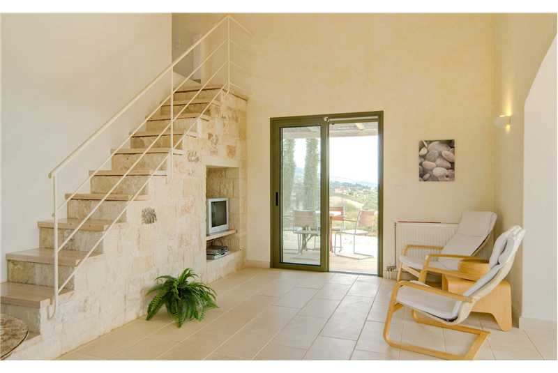 Villa Mataki lounge staircase to 1st floor