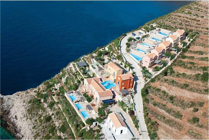 Villa Prikonas aerial photo