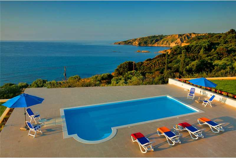 Villa Pessada pool with breathtaking views Ionian sea