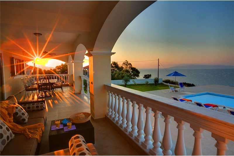 Villa Pessada terrace at sunrise